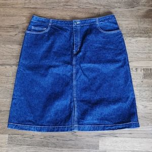 Cotton Ginny Vintage A-Line Denim Skirt 15